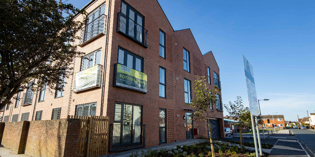 Potters Mews Shared Ownership Apartments in New Brighton, Wirral
